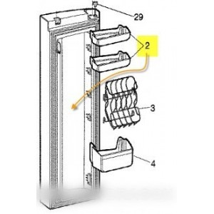 balconnet de porte pour réfrigérateur ARISTON