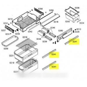 barre decorative pour réfrigérateur BOSCH B/S/H