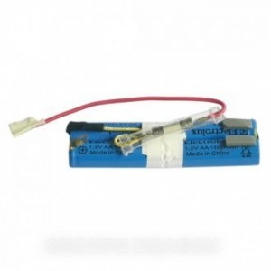 batterie ni-mh 4,8v 1300ma/h + fusible pour aspirateur ELECTROLUX